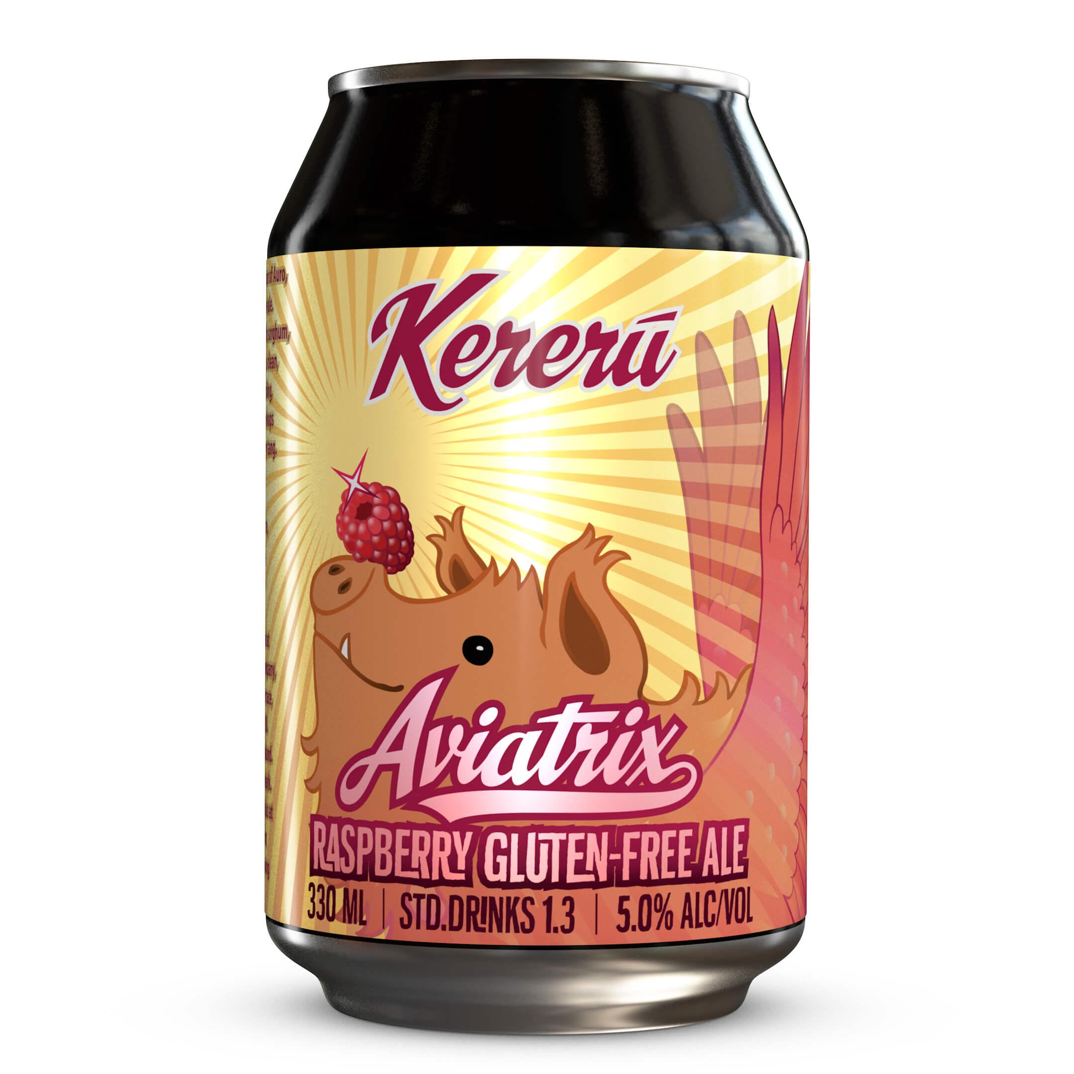 Aviatrix Raspberry Gluten-Free Ale | Gluten-Free Gold Beer ...