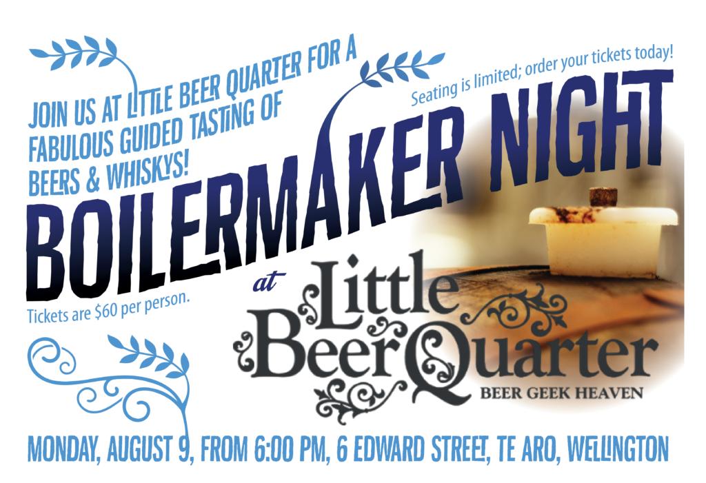 Boilermaker Night at LBQ poster.